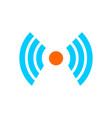 signal icon logo template design eps 10 vector image
