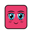 square emoticon face expression vector image
