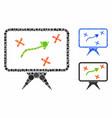 strategy board composition icon circles vector image vector image