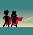 super kids sky silhouette vector image vector image