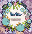 Tea time design banner templates card vector image