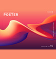 trendy colorful abstract wavy poster design vector image vector image