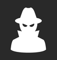 Undercover agent - private detective or spy in hat vector image