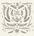 winter floral hand drawn template vector image