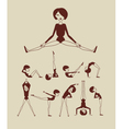 woman doing exercises vector image