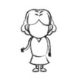 little girl child standing person character vector image