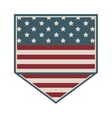 square shape of shield with american flag icon vector image