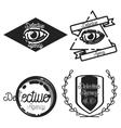 Vintage detective agency emblems vector image