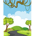 a natural road landscape vector image
