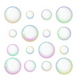 a set of soap bubbles vector image