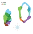 Abstract color map of Qatar vector image vector image