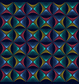 abstract colorful rhombus wave lines background vector image vector image