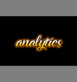 analytics word text banner postcard logo icon vector image vector image