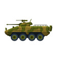 armored infantry vehicle heavy camouflage special vector image
