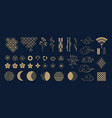 asian clipart golden decorative japanese vector image vector image