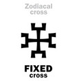 astrology fixed cross vector image vector image