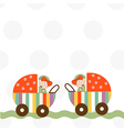 baby twins announcement card vector image vector image