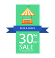 beer and snack 30 off sale vector image vector image