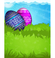 Blue and purple Easter eggs vector image vector image