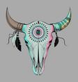 Bull skull Ethnic style