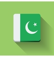 Button with flag of Pakistan vector image vector image