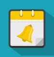 calendar school icon flat style vector image