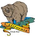 california republic retro poster vector image