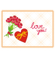 card love you vector image vector image