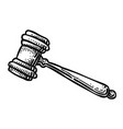 cartoon image of judge gavel icon law symbol vector image vector image