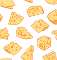 Cheese pattern including seamless vector image vector image