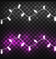 christmas lights isolated realistic on vector image