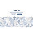 cityscape banner design vector image