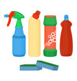 cleaning spray chemical washing liquid detergent vector image
