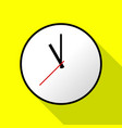 clock icon flat design eps10 vector image vector image