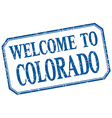 Colorado - welcome blue vintage isolated label vector image vector image
