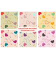 colored seamless pattern background valentine vector image