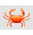 crab on transparent background vector image vector image