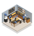 craftsman people isometric composition vector image vector image