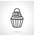 Cupcake simple line icon vector image vector image