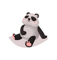 cute panda bear cub cartoon vector image