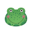 cute smiling frog face baby animal head vector image vector image