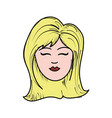 cute woman face with hairstyle vector image vector image