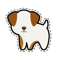 dog canine young standing cut line vector image vector image