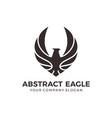 eagle falcon bird logo design vector image vector image