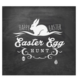 easter egg hunt typographical text on chalkboard vector image vector image