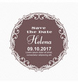 elegant card for an invitation to an important vector image vector image