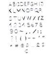 english unique hand drawn alphabet lettering vector image vector image