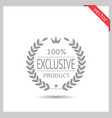 exclusive product icon vector image vector image