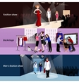 Fashion model catwalk banner set vector image vector image