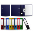 files and folders ring binder set of multiple vector image vector image